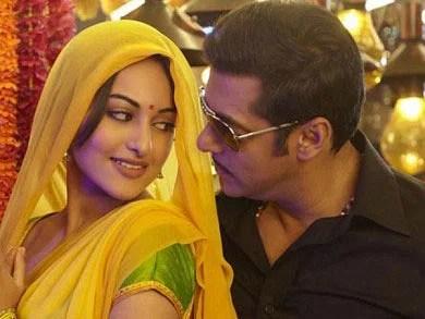 Sonakshi Sinha with Salman in 'Dabang'