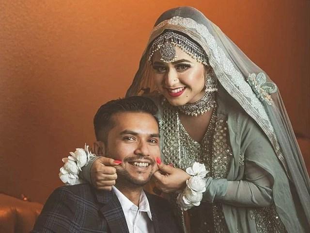 Faria Shahrin with her future husband Mahfuz Ryan