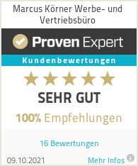 Erfahrungen & Bewertungen zu Marcus Körner Werbe- und Vertriebsbüro