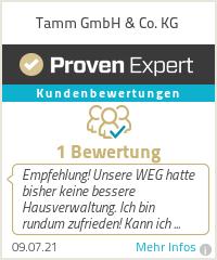 Erfahrungen & Bewertungen zu Tamm GmbH & Co. KG