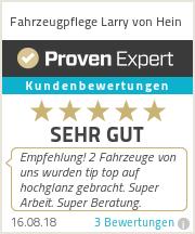 Erfahrungen & Bewertungen zu Fahrzeugpflege Larry von Hein