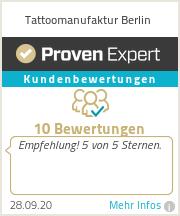 Erfahrungen & Bewertungen zu Tattoomanufaktur Berlin