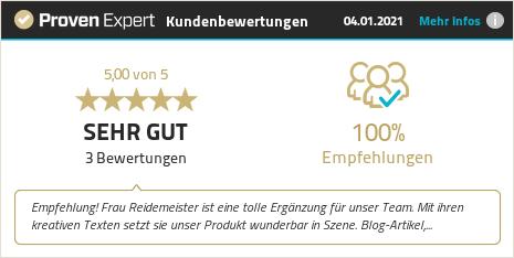 Kundenbewertung & Erfahrungen zu Eva Reidemeister. Mehr Infos anzeigen.