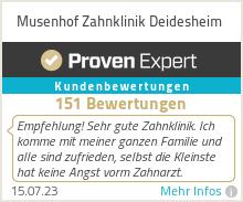 Erfahrungen & Bewertungen zu Musenhof Zahnklinik Deidesheim