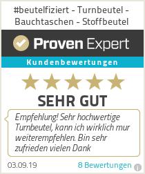 Erfahrungen & Bewertungen zu #beutelfiziert - Turnbeutel - Bauchtaschen - Stoffbeutel