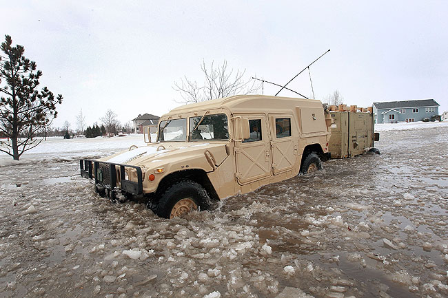 National Guard Soldiers respond to flooding.
