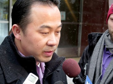 Koua Fong Lee outside of the federal courthouse in Minneapolis, Feb. 3, 2015.