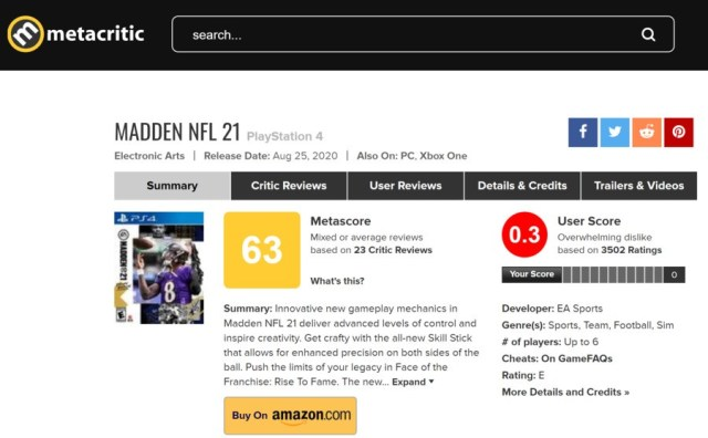 Madden NFL 21 PS4 PlayStation 4 1