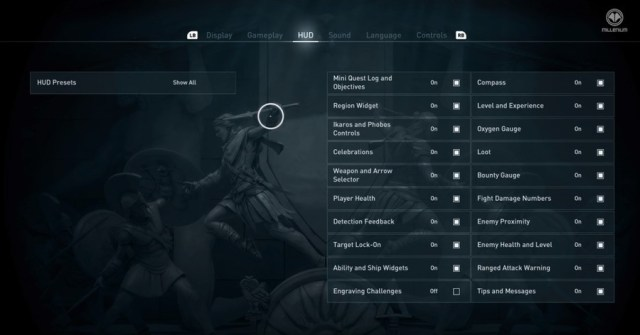 Assassin's Creed Odyssey Hud Options