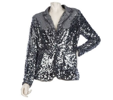 Joan Rivers Touch of Sparkle Sequin Blazer