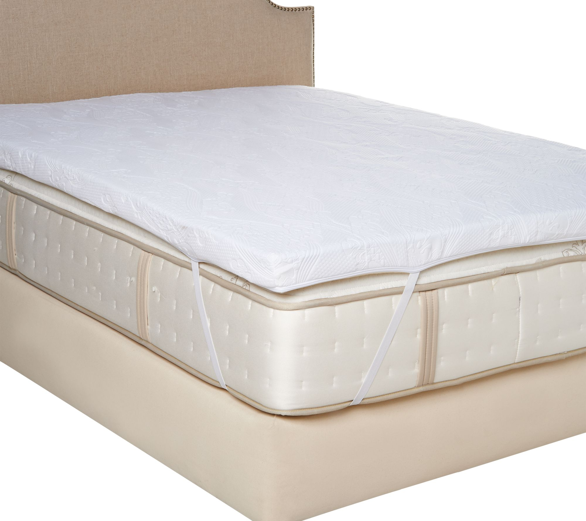 MyPillow Premium 3  Calif  King Mattress Topper w   Gel   Cover     King Mattress Topper w   Gel   Cover   Page 1     QVC com