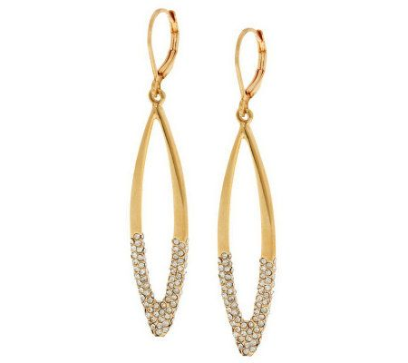 Joan Rivers Italian Inspired Drop Earrings with Pave