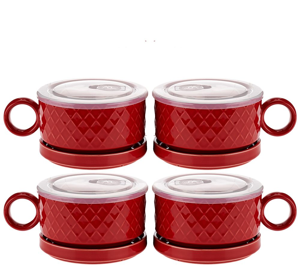 Microwavable S4 Ceramic Soup Bowls Amp Saucers With