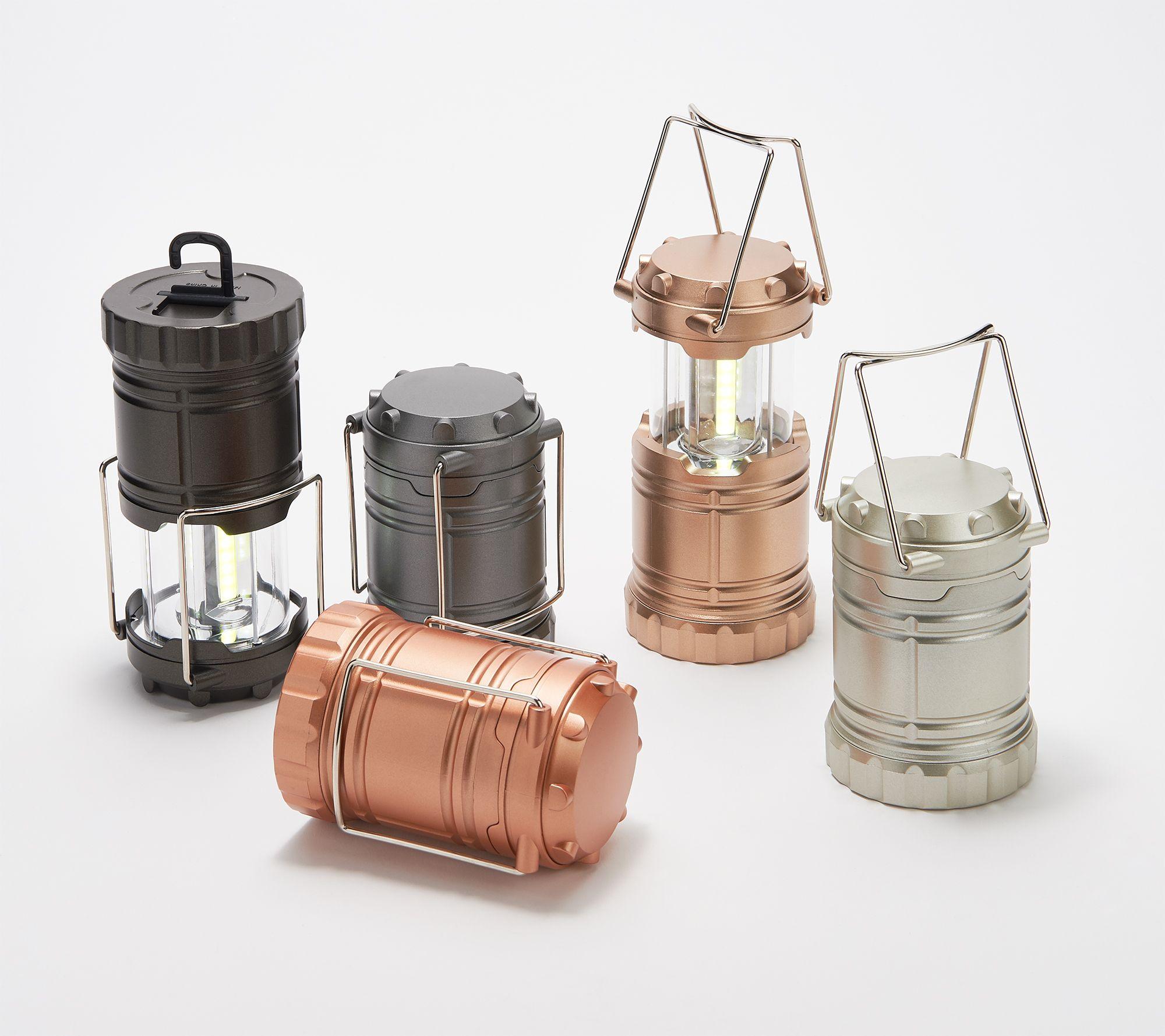 Securebrite Set Of 5 Mini Pop Up Led Lanterns With Hook Qvc Com