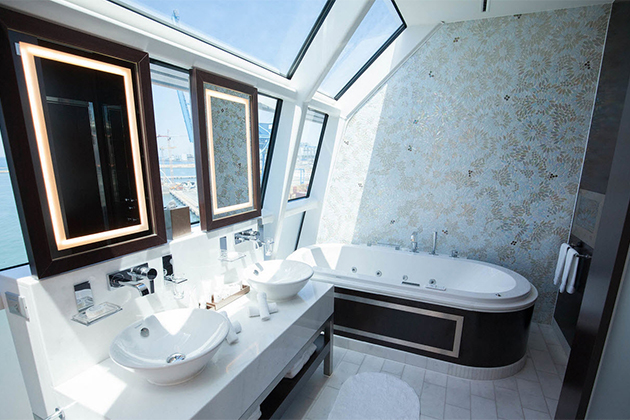 7 Best Cruise Ship Bathrooms   Cruise Critic Reflection Suite Bathroom