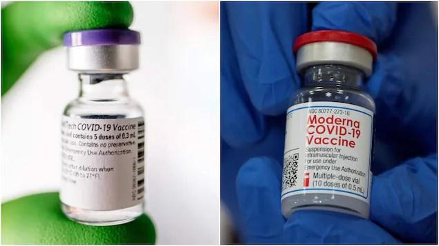 Santé Canada ajoute un avertissement pour les vaccins Pfizer et Moderna