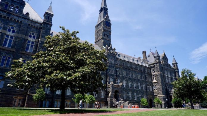 The campus of Georgetown University, Washington.