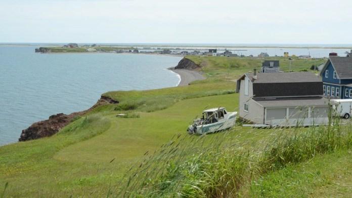 Landscape of Havre Aubert Island of the Magdalen Islands