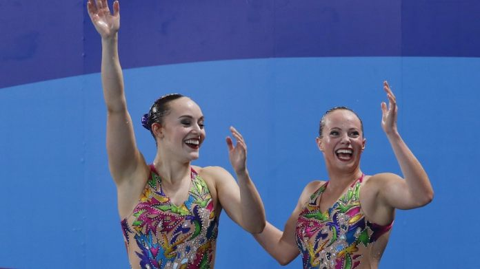 The reaction of Jacqueline Simoneau and Claudia Holzner after their program
