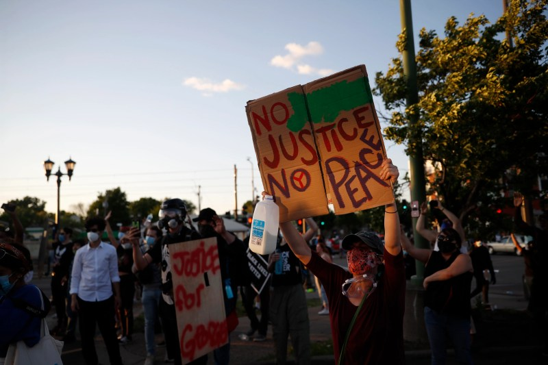 George Floyd protesters set Minneapolis police station afire ...