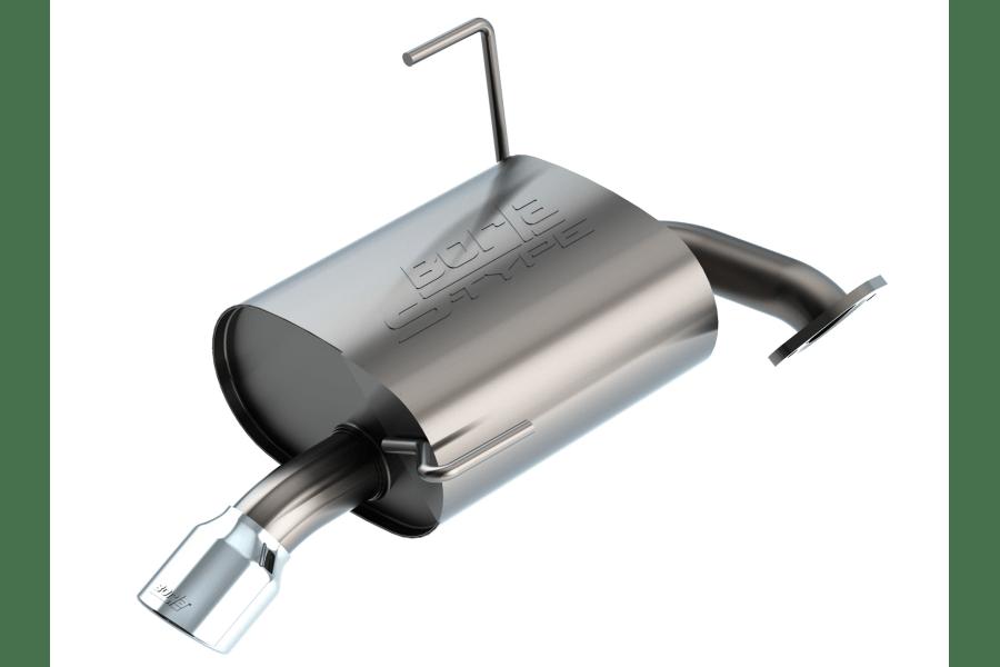 borla axel back exhaust s type w polished tip