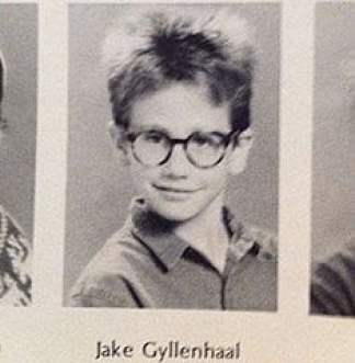 Jake Gyllenhaal wearing spectacles as a kid all too well