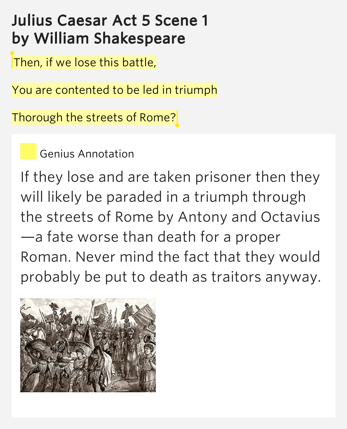 Then If We Lose This Battle You Julius Caesar Act