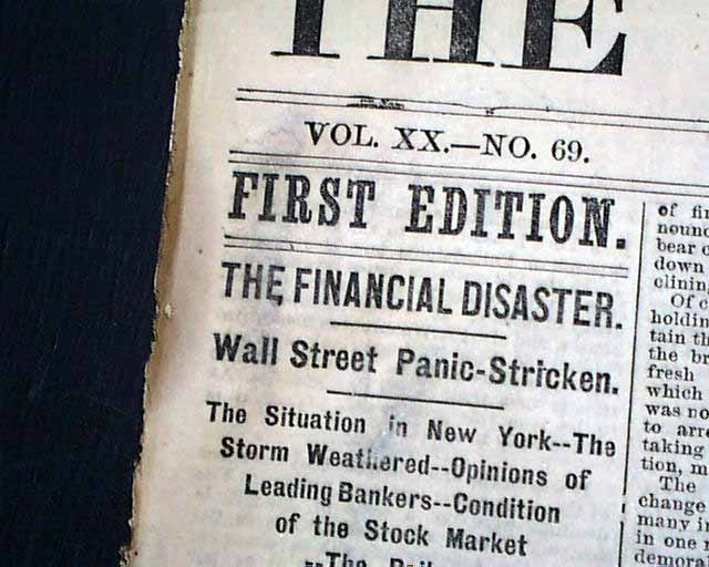 Image result for panic of 1873