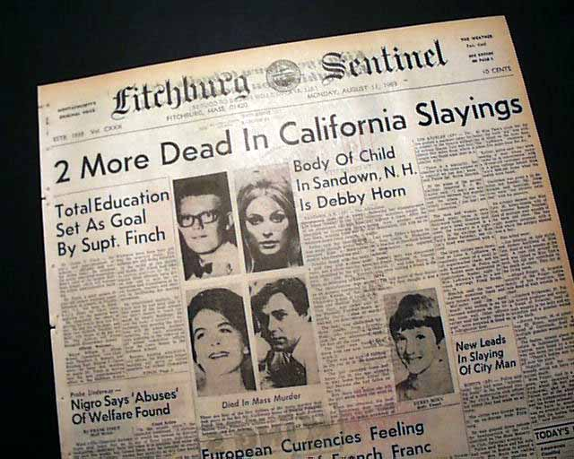 Image result for tate family murders newspaper