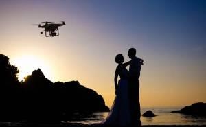 drone at wedding