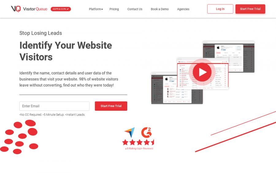 VisitorQueue: online lead generation tools