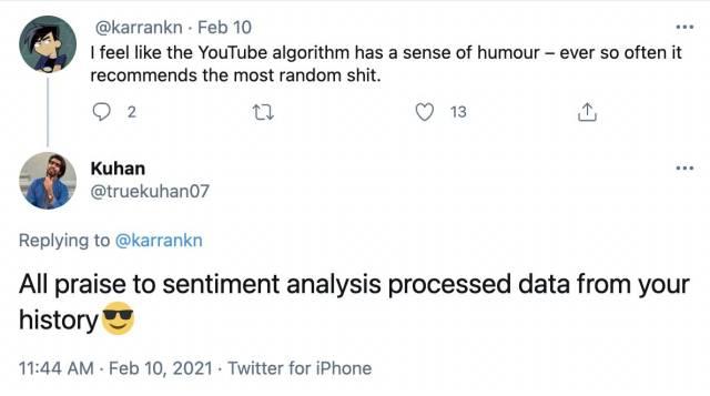 YouTube sentiment analysis