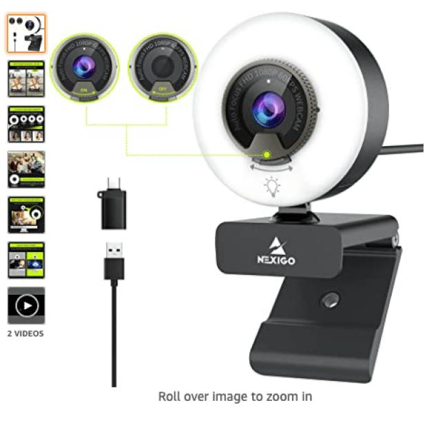 NexiGo 60FPS 1080P Webcam