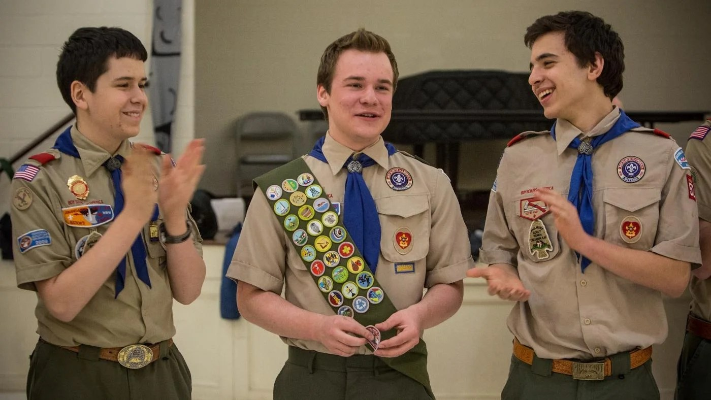 How Many Inches Down On A Boy Scout Sash Do You Place Your
