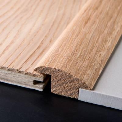 solid oak carpet tile reducer 19mm 1 10m long