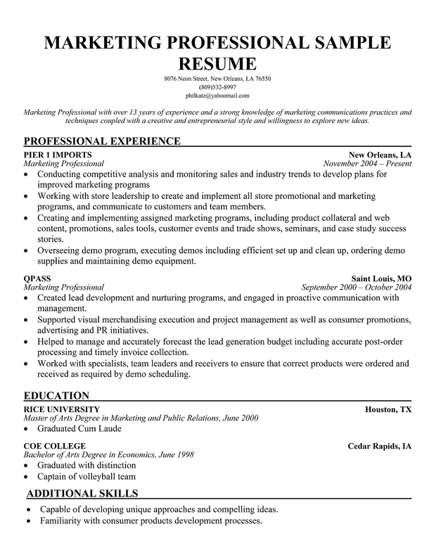 professional marketing resume best accountant resume sample