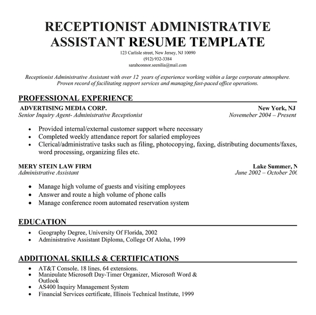 objective for receptionist resume desk resume objective front desk