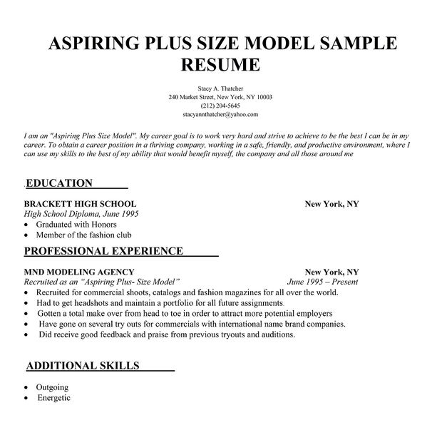 model resume sample fashion model resume samples banking resume