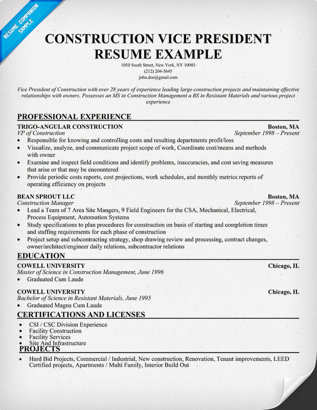 iv construction resume sample resume builder