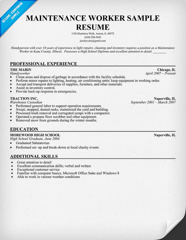 maintenance manager resume format format example electrical