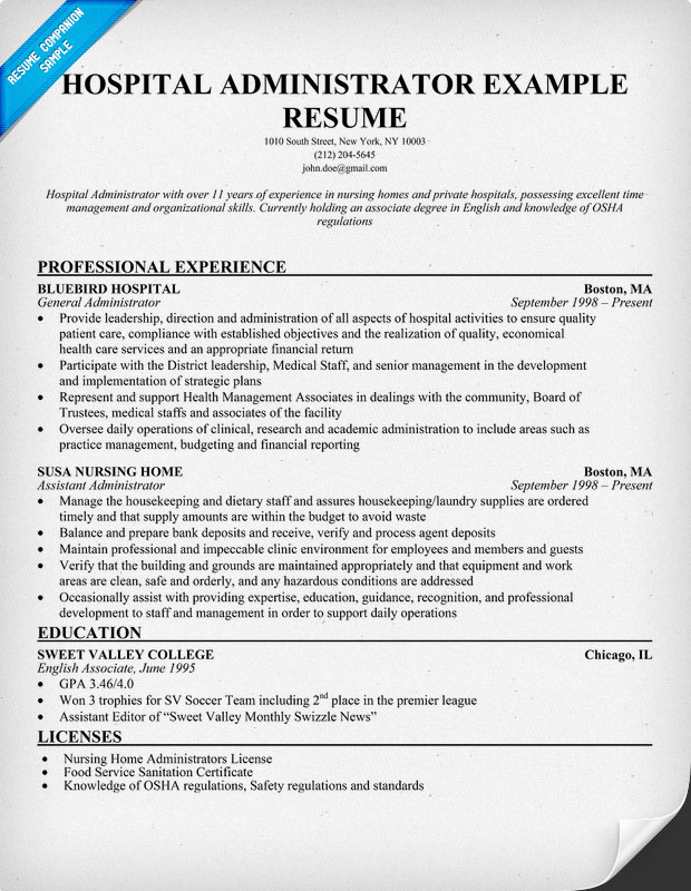 Healthcare Manager Resume. Project Director Resume Template