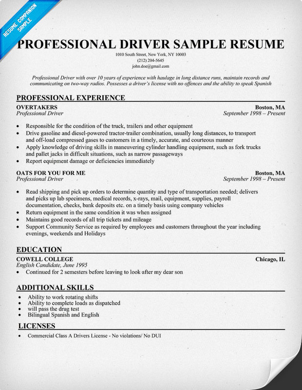 Truck Driver Resume Objective Examples. Resume Template Armored