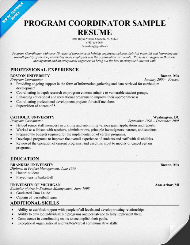 Training Coordinator Resume Samples. Resume Examples Human