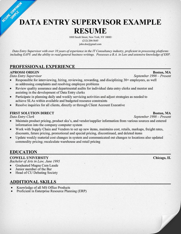 Resume Data Entry. resume help data entry thesis writer in the ...