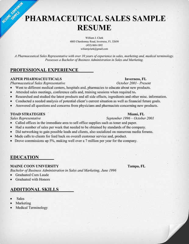 cover letter examples pharmaceutical
