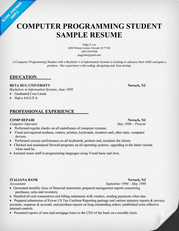 Best Programmer Resume Template 1000 images about best java – Programmer Resume Template