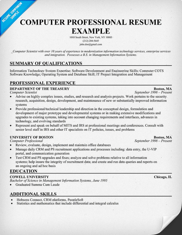 Resume Example Summary Of Skills. See A Sample Of A Functional