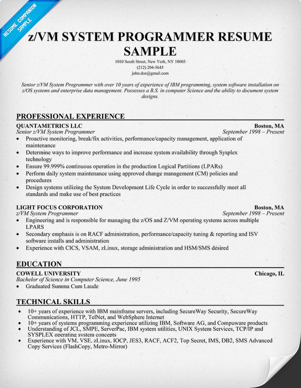 programming resume examples resume format download pdf creative - Programmer Resume Example