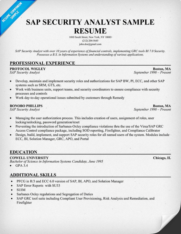 Sap Basis Resume Sample sap basis consultant resume format – Sap Resume Sample