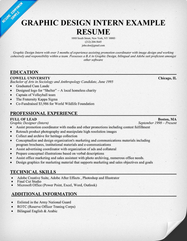 Example Internship Resume. Public Relations Free Sample. Vorlage